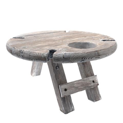 Столик винный складной сервировочный, серый