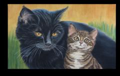 """Постер """"Два котенка"""""""