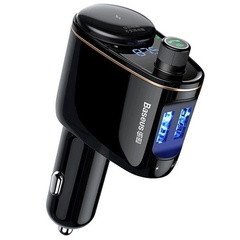 Автомобильное зарядное устройство с FM-трансмиттером 2xUSB Baseus Locomotive Bluetooth MP3 CCALL-RH01