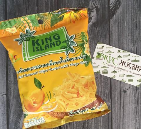 Кокосовые чипсы с манго  KING ISLAND, 40г