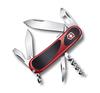Нож Victorinox EvoGrip S101, 85 мм, 12 функций, красный с черным