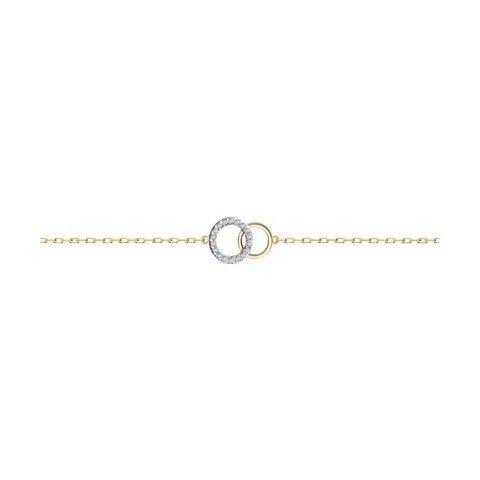51-150-01324-1 - Браслет из золота с фианитами Swarovski