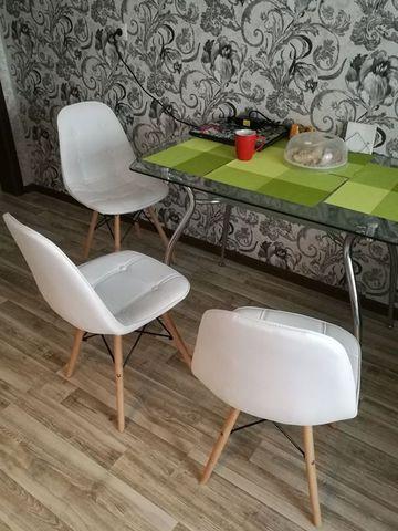 Интерьерный дизайнерский кухонный стул Eames Pulsante / PU / Экокожа