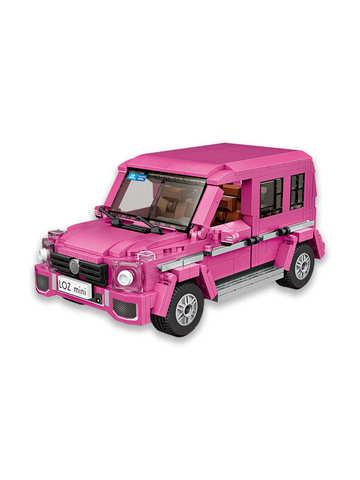 Конструктор LOZ mini Розовый внедорожник 652 детали NO. 1129 Pink SUV Car model