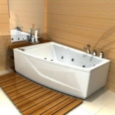 Ванна акриловая двухместная Aquatek Оракул 125/70х180см. на каркасе и сливом-переливом левая/правая