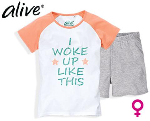 Комплект для девочки Alive футболка + шорты