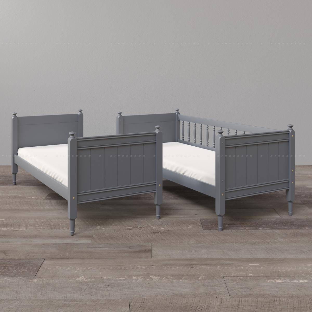 Двухъярусная кровать может использоваться в разделенном варианте.