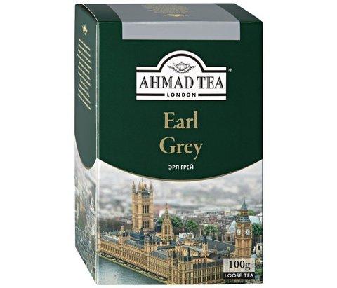Чай черный Ahmad Tea Earl Grey листовой с бергамотом 100г