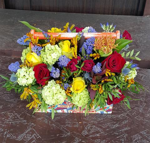 Ящик с цветами Цветной 2