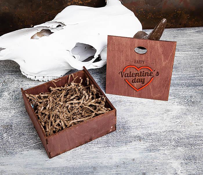 BOX206-3 Подарочная коробка «День святого Валентина» с сердцем (17*17*7 см) фото 08