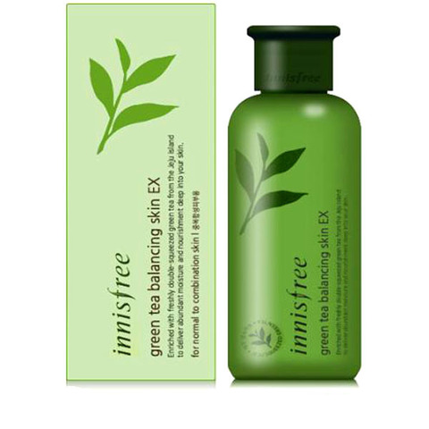 Тоник для лица с экстрактом зеленого чая Innisfree Green Tea Balancing Skin EX