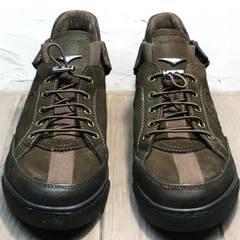 Мужские кожаные туфли кроссовки осенние Luciano Bellini 71748 Brown