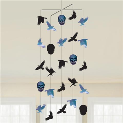 Декор подвесной Череп Ворон 1м