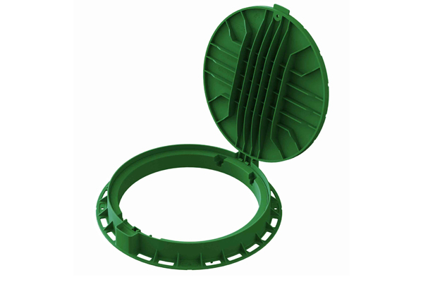 Люк садовый пластиковый «Лого»