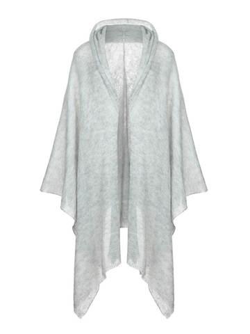 Женский шарф серого цвета из мохера и шерсти - фото 1