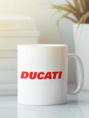 Кружка с рисунком Ducati (Дукати) белая 002