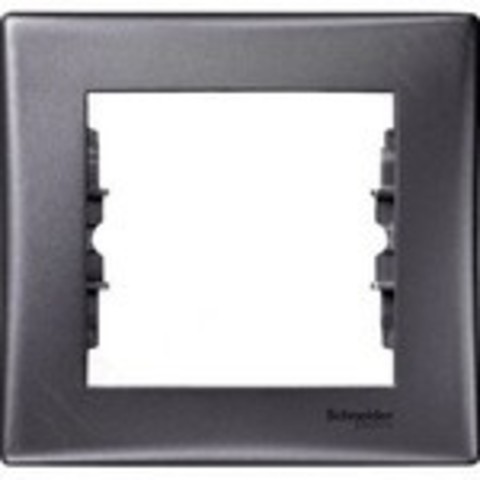Рамка на 1 пост. Цвет графит. Schneider Electric Sedna. SDN5800170