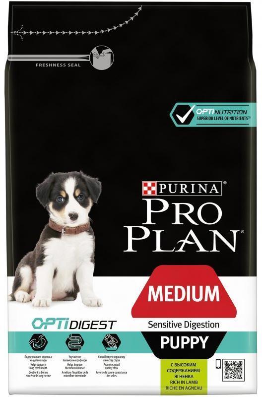 Сухой корм Сухой корм, Purina Pro Plan Puppy, для щенков средних пород с чувствительным пищеварением, с ягнёнком и рисом ср_щ_чув_пищ_ягн.jpg