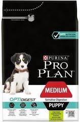 Сухой корм, Purina Pro Plan Puppy, для щенков средних пород с чувствительным пищеварением, с ягнёнком и рисом