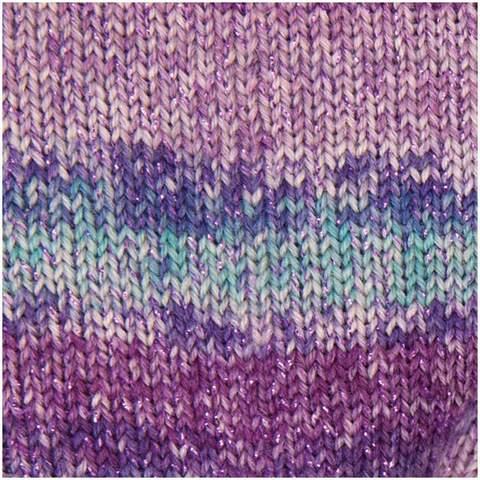 Пряжа для носков Rico Superba Las Vegas 04 (Purple mix) купить