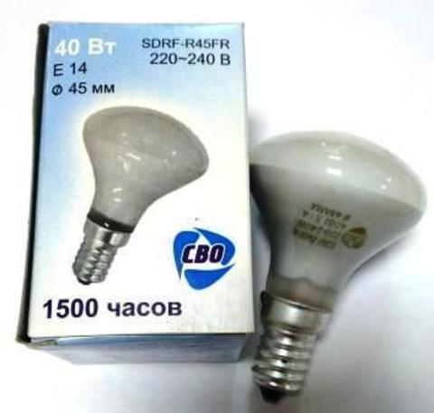 Лампа накаливания рефлекторная RF-R45 FR 40Вт Е14