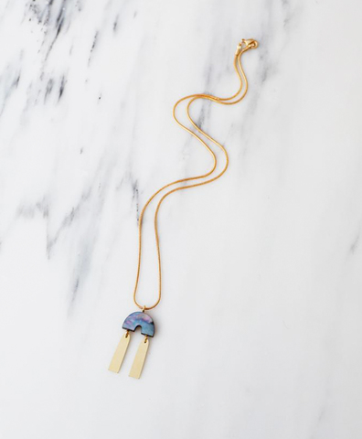 Подвеска Cecilie Necklace in Blue Mother of Pearl