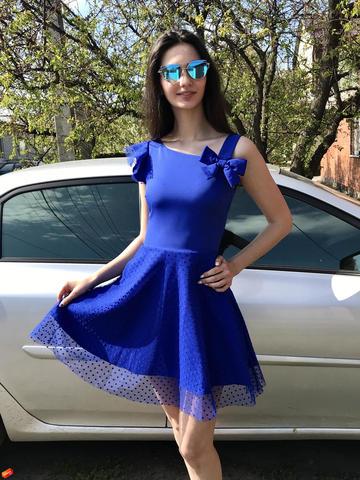 Каприз. Оригинальное нарядное платье. Электрик