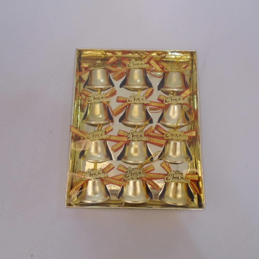 Украшение колокольчики металл 2,5х1,7см 12шт золото SYWW-551972