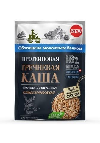 Каша протеин б/п гречневая классическая б/глютена б/сахара 40г Bionova