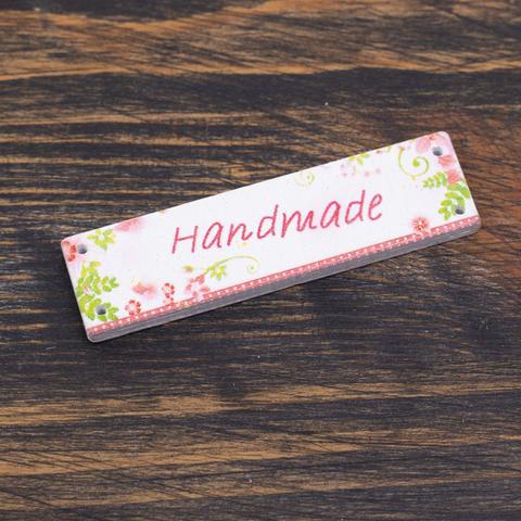 "Бирка пришивная из дерева ""Hand Made"" N17 (3 шт.)"