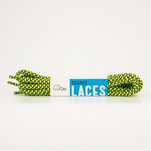 Шнурки Solemate Laces Люминесцентно-Зеленого, Черного Цвета