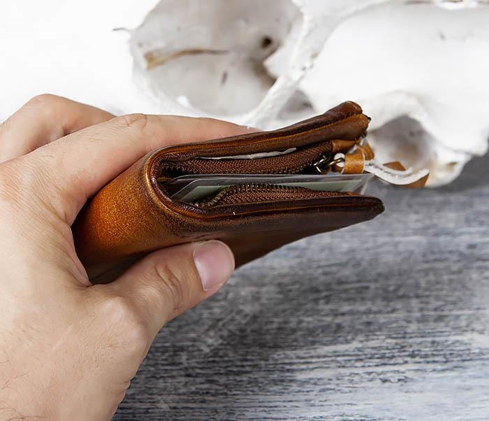 WL304-2 Винтажный кошелек из натуральной кожи фото 11