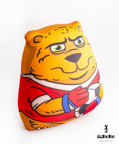 Подушка-игрушка антистресс Gekoko «Медведь-вратарь» 4