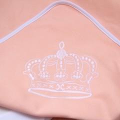 Трикотажный плед для новорожденных Queen (персик)