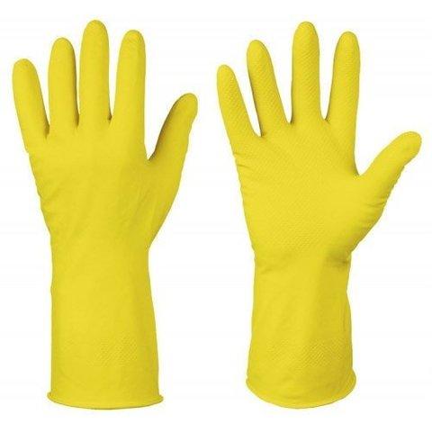 Перчатки хозяйственные латексные L желтые