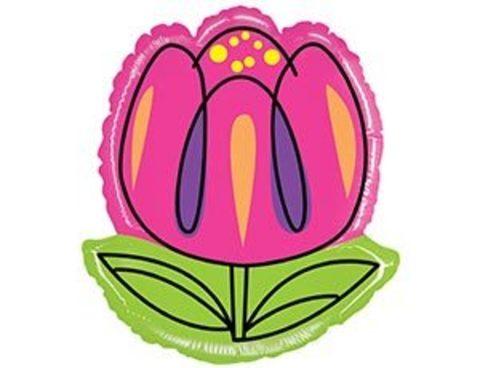 Б ФИГУРА Цветок Тюльпан розовый