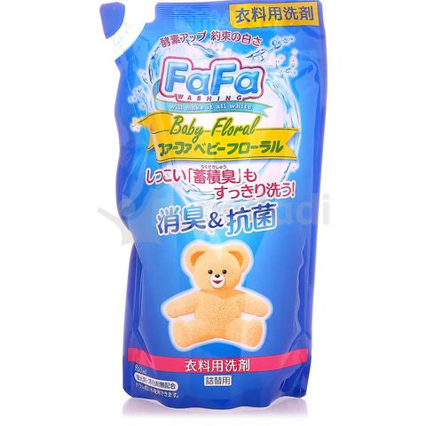 Жидкое мыло для стирки детского белья NS FaFa с цветочным ароматом, мягкая упаковка, 810 мл