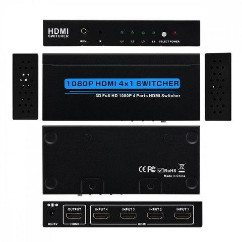 HDMI Switch 4x1 4k*2k (из 4-x HDMI в 1 HDMI) + пульт