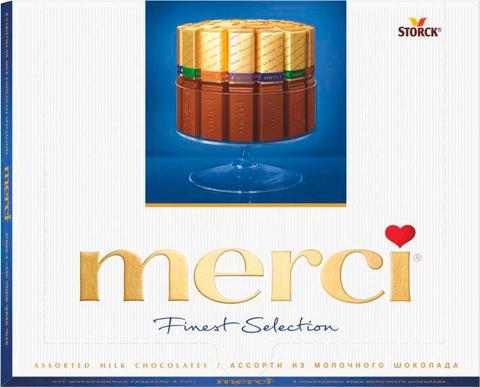 Şokolad \ Шоколад \ Chocolate Merci Finest Selection Молочный 250 г