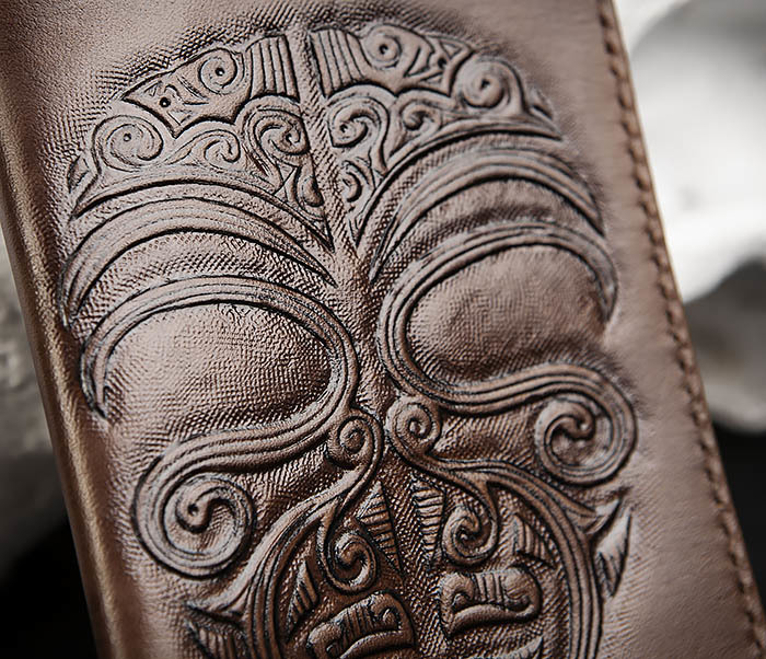 BC207 Обложка на паспорт ручной работы в этническом стиле Маори фото 05