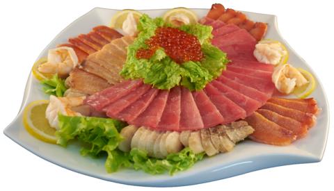 1--10Ассорти из соленой рыбы