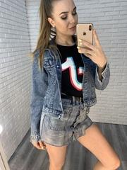 джинсовая юбка-шорты короткая купить