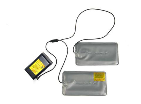 Греющий комплект работает от литий-ионных аккумуляторов