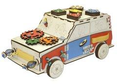 Бизиборд Разноцветная машинка