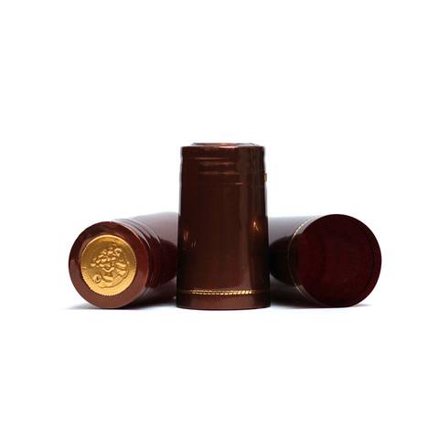Термоколпачки широкие, коричневые 40 шт