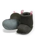 Сапоги из мембраны - Серый / розовый. Одежда для кукол, пупсов и мягких игрушек.