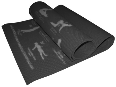 Коврик для йоги. Цвет чёрный. RW-6-Ч
