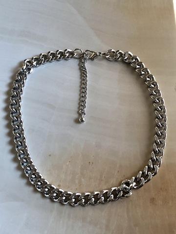 Колье Иквилир, серебряный цвет