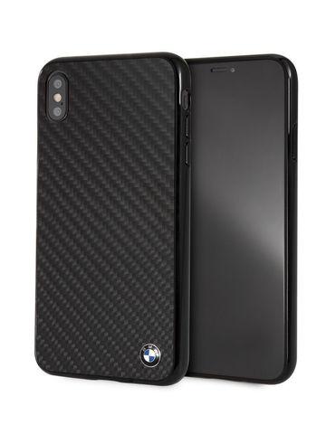 BMW / чехол для телефона iPhone XS Max | Signature Real carbon Hard Black
