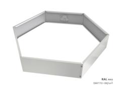 Клумба многоугольная оцинкованная 1 ярус RAL 9002 Светло-серый